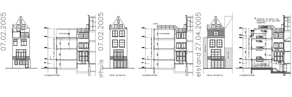 Prinsengracht 73 optoppen achterhuis 1