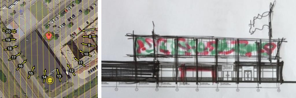 Rode Katerplaats Schets PV idee